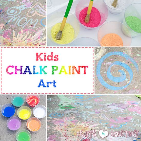 Create Fun Chalk Paint Art With Your Kids