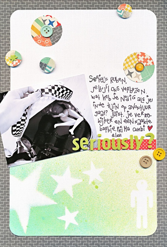 Seriously #scrapbook #layout #journal #simple