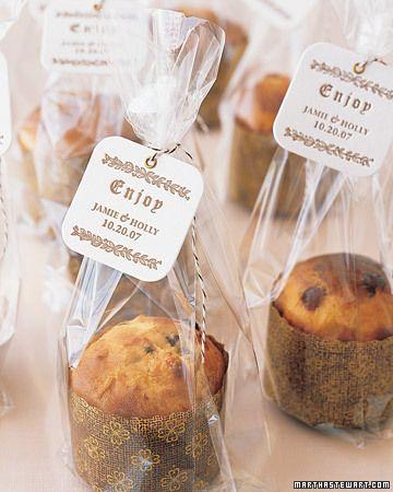 Individual sweet bread wedding favors