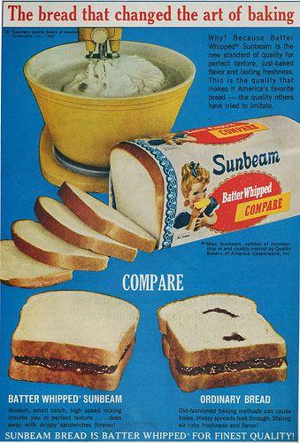 1950s Sunbeam Bread ad