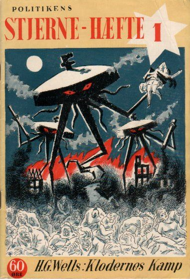 War of the Worlds - Politikens Forlag, 1941 (Danish Book Cover)