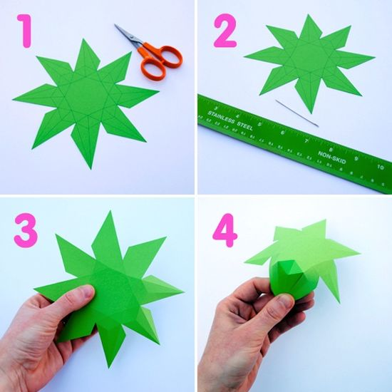 #DIY - Create beautiful 3D Paper Diamonds