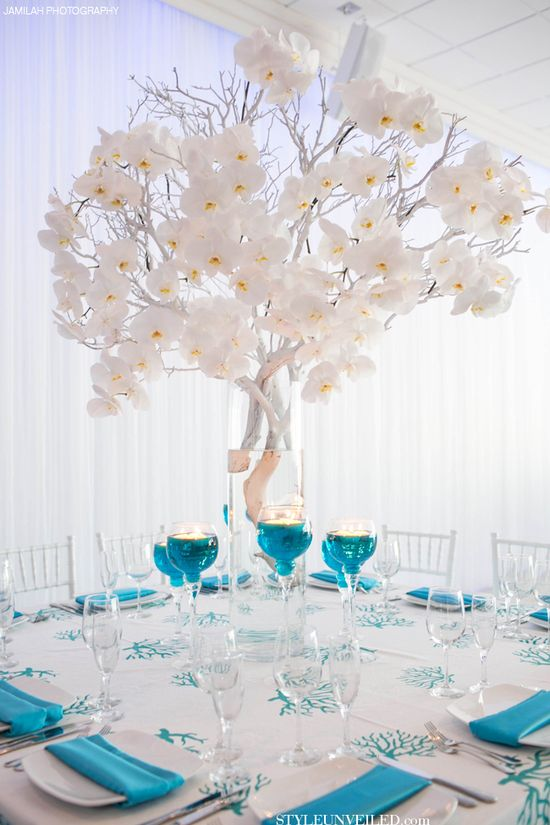 Wedding ? Tablescape ? Turquoise and White