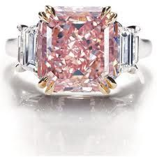 Rare Pink-Diamond Engagement Ring from Harry Winston...