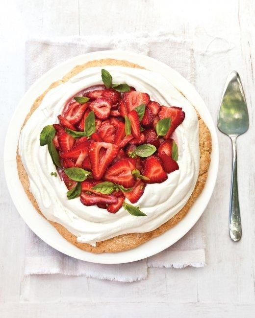 Strawberry Shortcake With Basil Recipe