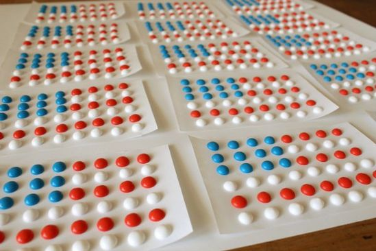 Candy Button Flag