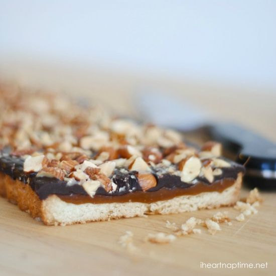 Dark Chocolate Caramel Tart with Salted Almonds