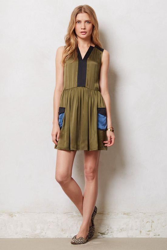 Silk Cargo Dress - Anthropologie.com