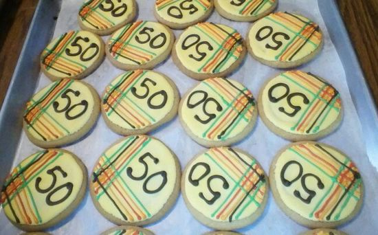 Decorated cookies 50