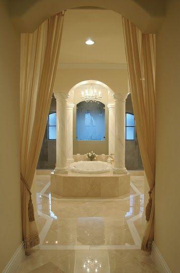Illustrous Beige Bathroom interior design