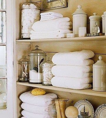 Organize your bathroom for functionality and looks! I love this!!