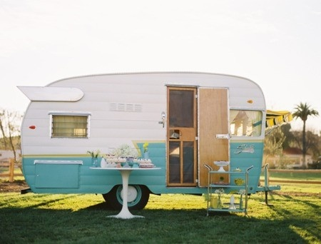 adorable vintage travel trailer