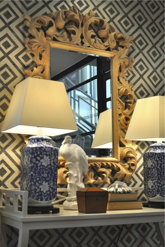 david hicks la fiorentina wallpaper  Office Design by Meredith Heron Design