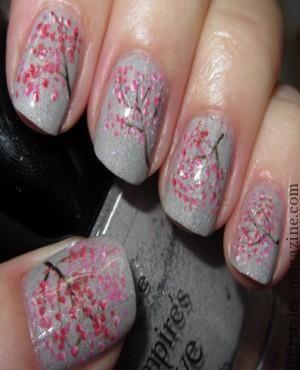 dior nailart tree creative nail art designs 2013 2014