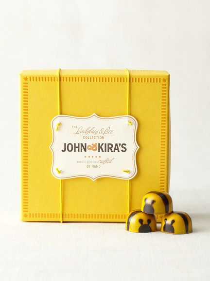 Chocolates that look like bees! And pretty packaging!