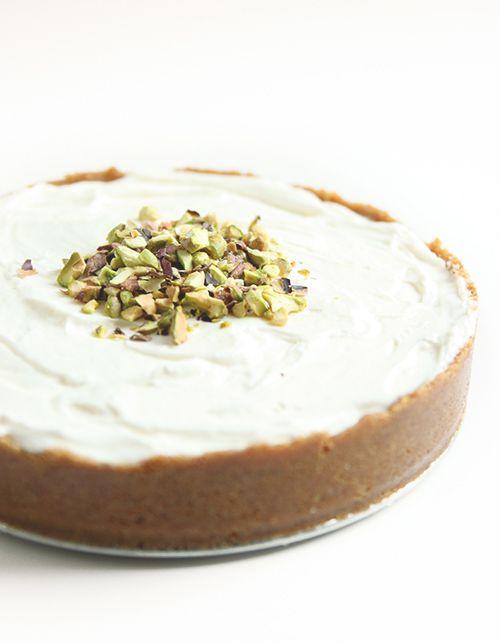 No-bake Orange Cardamom Mascarpone Cheesecake