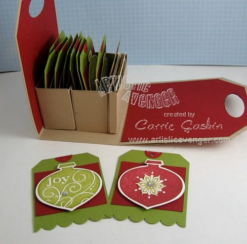 Christmas Gift Tags and Holder.  Stampin' Up!