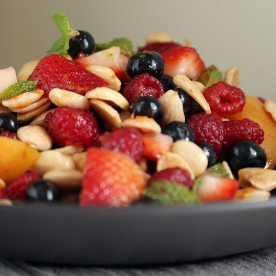 Healthy Fruit Salad With Mint