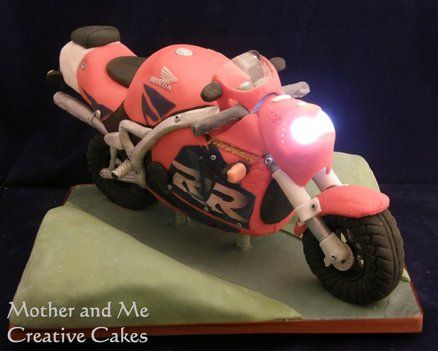 Motorbike Cake Cake by MotherandMe