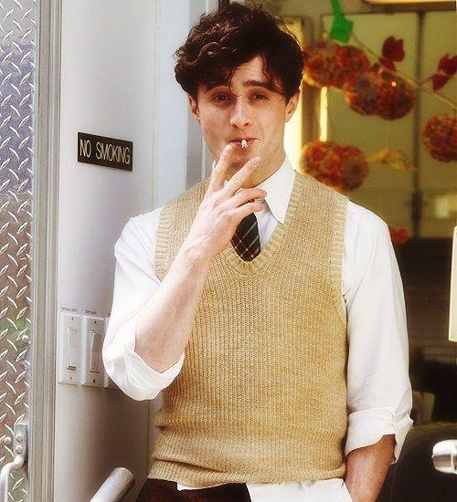 Smoking is a filthy habit, but DAMN Daniel Radcliffe