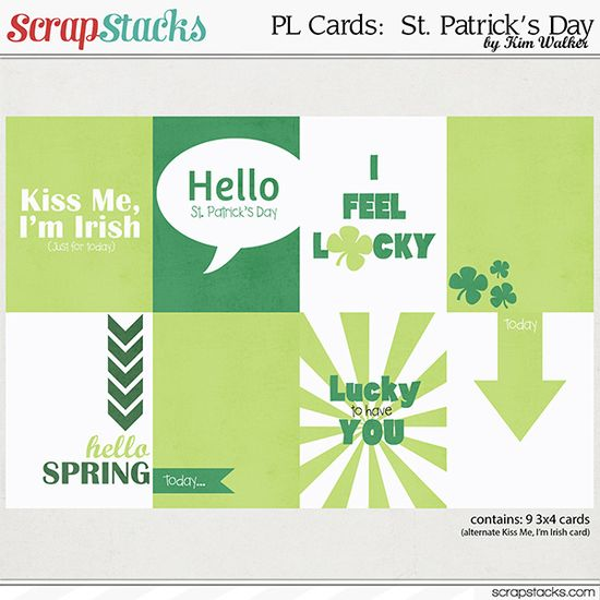 PL cards:  St. Patrick's Day