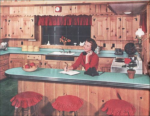 Knotty Pine Kitchen by Formica - 1953