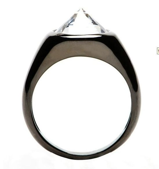 Inverted Diamond Gothic Ring