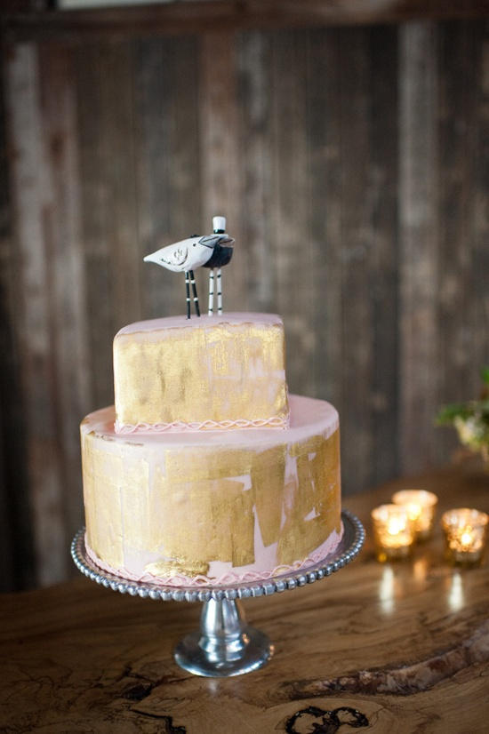 gold paint, but I personally love the cake toppers