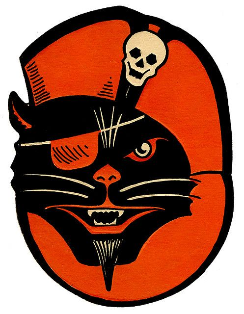 Halloween Black Cat Pirate