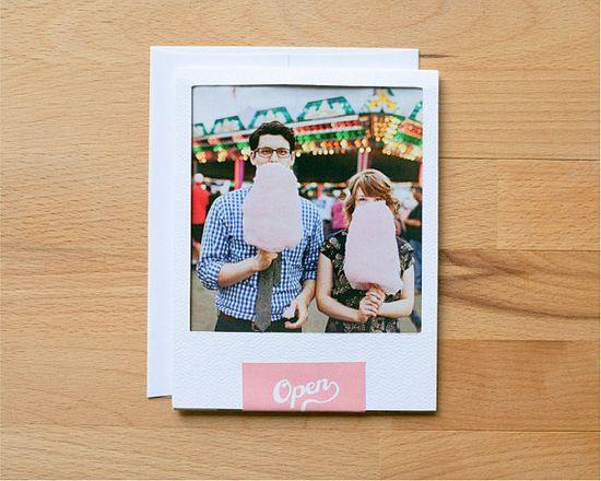 polaroid wedding invitation