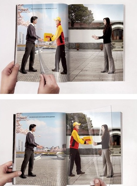 Clever DHL magazine ad...