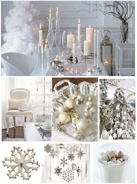 love using white for Christmas