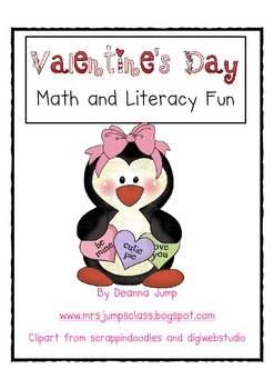 """This unit will be the perfect addition to your Valentine's Day fun. It includes an original story, picture cards, word cards to play """"Bee"""" the word, literacy center, a graph for the kids to use to sort and graph their Valentine's Day cards, a Valentine Math probability game, Math journal prompts and manipulatives and a Valentine Card scrapbook kit so that the kids can turn their Valentine cards into a book that's fun to read rather than just ending up in the trash. This unit is a smaller unit..."""