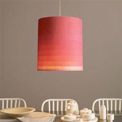 A  DIY lampshade made of layered fabric. (via marthastewart.
