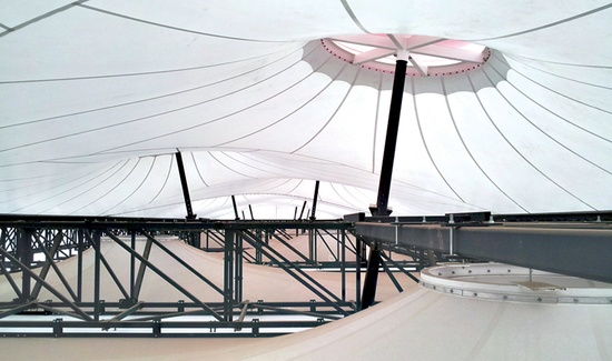 Inside Magma's London 2012 Olympic shooting venue. Photo: Magma Architecture
