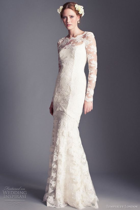 temperley london bridal 2013 florence all over lace wedding dress