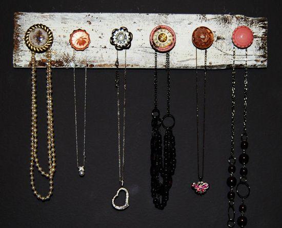 Original Pink Knob Jewelry Holder by CreateHomeostasis on Etsy, $35.00