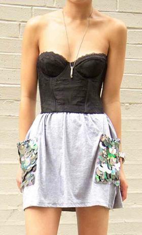DIY Fashion: Sequin Pocket Skirt