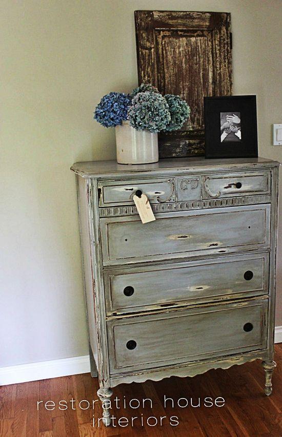 Beautiful shabby chic dresser - myshabbychicdecor... - #shabby chic #home decor #design #ideas #wedding #living room #bedroom #bathroom #kithcen #shabby chic furniture