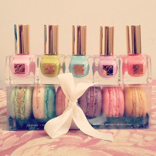 macaron inspired Estee Lauder nail polishes