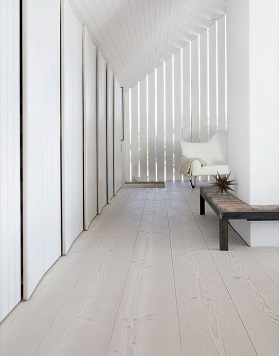 Beautiful wood flooring #white #wood