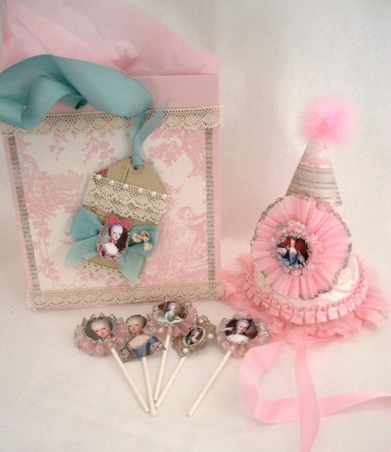 Etsy, Marie Antoinette, Pink, Party, Hat, Crepe