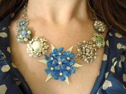 raven's retrospective necklace: vintage repurposed jewelry