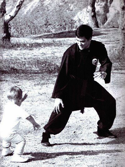 Bruce Lee Trains Son Brandon Lee
