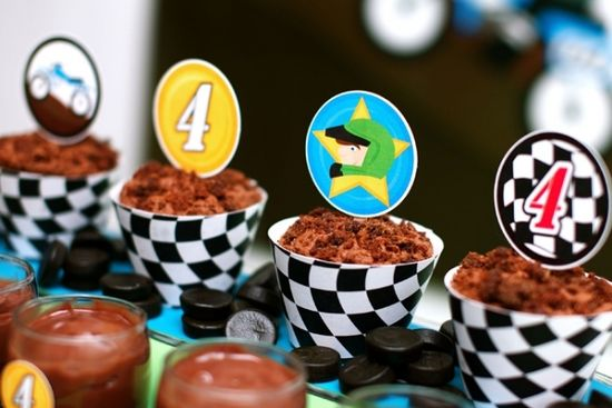 Race Party Cupcake Toppers