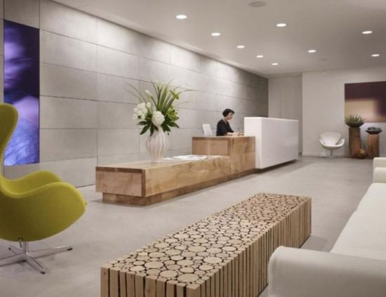 layers of reception desk
