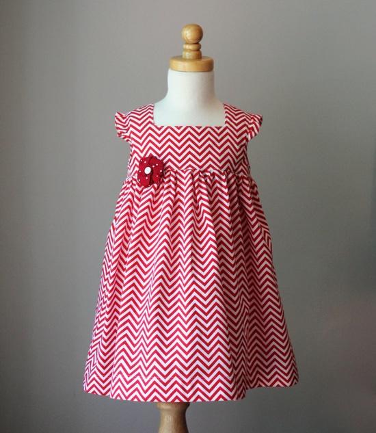 Red Chevron Dress