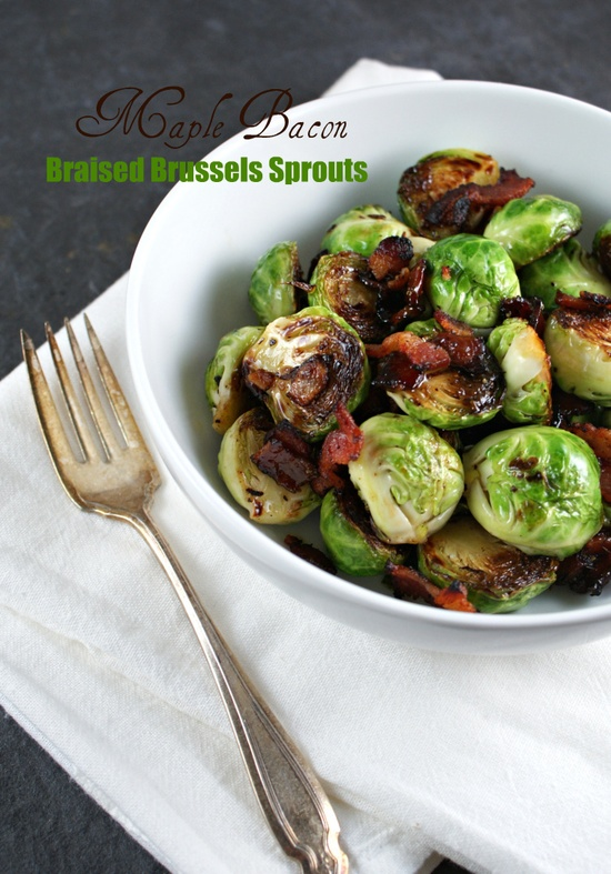 Maple Bacon Braised Brussel Sprouts by authenticsuburbangourmet #Brussel_Sprouts #Maple #Bacon #autehticsuburubangourmet