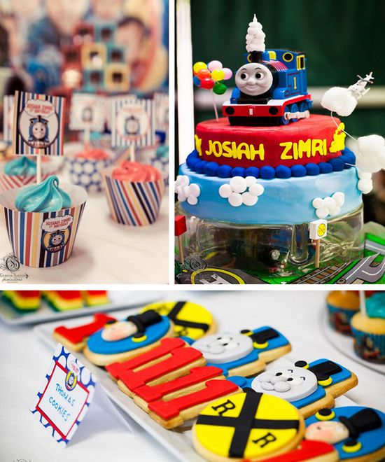 Thomas Train Birthday Party with Lots of Ideas via Kara's Party Ideas