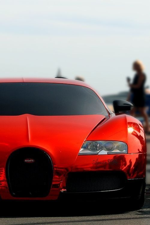 Red Chrome Bugatti Veyron. Click on the pic and you can win an amazing #supercar driving experience!